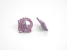 Arithmetic Earrings (Studs) 3d printed Custom Dyed Color (Wisteria)
