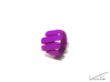 Curl ring 4 parallel lines // US8 - LARGE 3d printed Purple Strong & Flexible