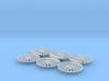 Bachmann (Mainline) OO Standard 4MT Wheel Centers 3d printed