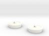 Bath Plug Earrings 3d printed