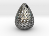 Big Patterned Egg Pendant - Metallic Material 3d printed