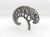3D Fractal Tree Pendant 3d printed