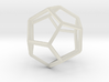 Dodecahedron Wireframe Thick 3d printed