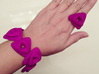 Rose Ring 3d printed rose ring and bracelet in purple