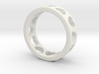 Ring with hearts 3d printed