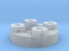 Sewable Disc Button; Detail Materials 3d printed