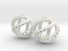 Kraken-Earrings 2 Pieces 3d printed