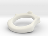 Skull and Bone Ring aprox size 11 3d printed