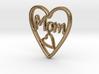 MOM Pendant (3cm) 3d printed