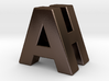 """A & H"" 3d Logotype  3d printed"