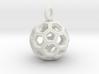 Soccer Ball Pendant /Keyring 3d printed