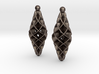 Double Spiral Star earring pair 3d printed