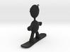 Snowboarder pendant charm 3d printed