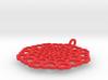 Pendant: 'Hearts disc' 3d printed