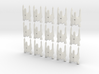 Tri fighter/bomber fleet scale cluster 3d printed