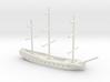 17th century frigate w/ mast, 1/800 3d printed