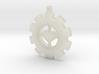 Heart Gear Pendant (small) 3d printed