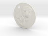 Tragedy Comedy Mask Pendant 3d printed
