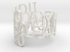Ring Poem GIRLFRIEND 3d printed