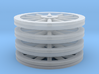 Large Spoked Wheel Set - Z scale 3d printed