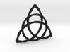 Triqeutra Celtic Knot - Large 3d printed