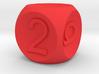 D6 Concave Dice 3d printed