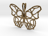 Butterfly Pendant with Custom Text 3d printed