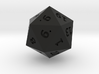 hollow d20 25mm 3d printed