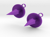 Purple Spike Earrings 3d printed