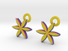 2 sided Flower Earrings 3d printed
