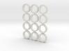 """5/8"""" Mandala Buttons (dozen) 3d printed"""