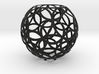 Dual circles (stereographic projection) 3d printed