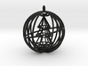 Christmas Tree Spinner Bauble (moving part) decora 3d printed