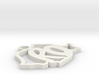 Romania shaped pendant 3d printed