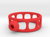 Wired Button Ring 3d printed