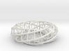 Moebius hexagon   Napkin Ring 3d printed