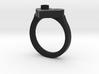 J Ring Initial 3d printed