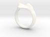 "heart ring ""Polena"" 3d printed"