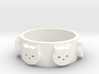 Ring of Seven Cats Ring Size 8 3d printed