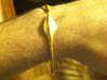"""Leaf Bracelet 3"""" Diameter 3d printed I'm a guy, so just try to ignore the hair."""