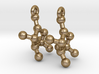 Earrings (Pair)- Molecule- Fructose 3d printed