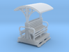 OO9 Small short longitudinal seat open coach 3d printed