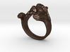Lion Hug Ring 3d printed