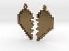 Pixel Heart Friendship Pendant 3d printed