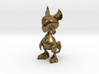 Baby Gryphon figurine 60mm 3d printed Polished Bronze Render