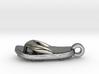 Soccer / football flipflop pendant 3d printed flipflop sandalPremium Silver