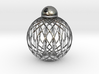 Radials Earring Pendant 3d printed