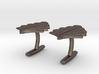 Art Deco Palm Cufflinks 3d printed
