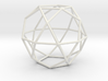 Icosidodecahedron 100mm 3d printed