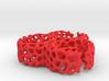 Voronoi Biohazard Icon 3d printed